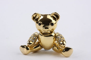 Teddy Bear Brooch Gold
