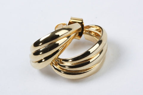 Triple Hoops Earrings Gold