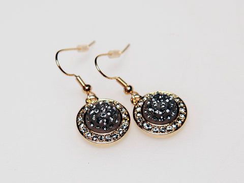 Elegant Antique Pave Earrings