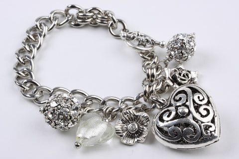 Hearts and Charms Bracelet