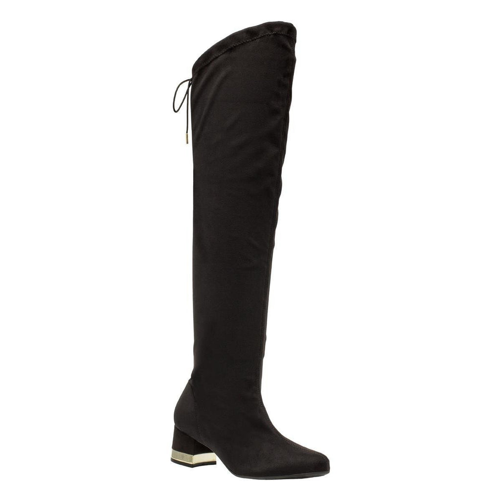 Piccadilly 142005-851 Women Long Boot Black Suede