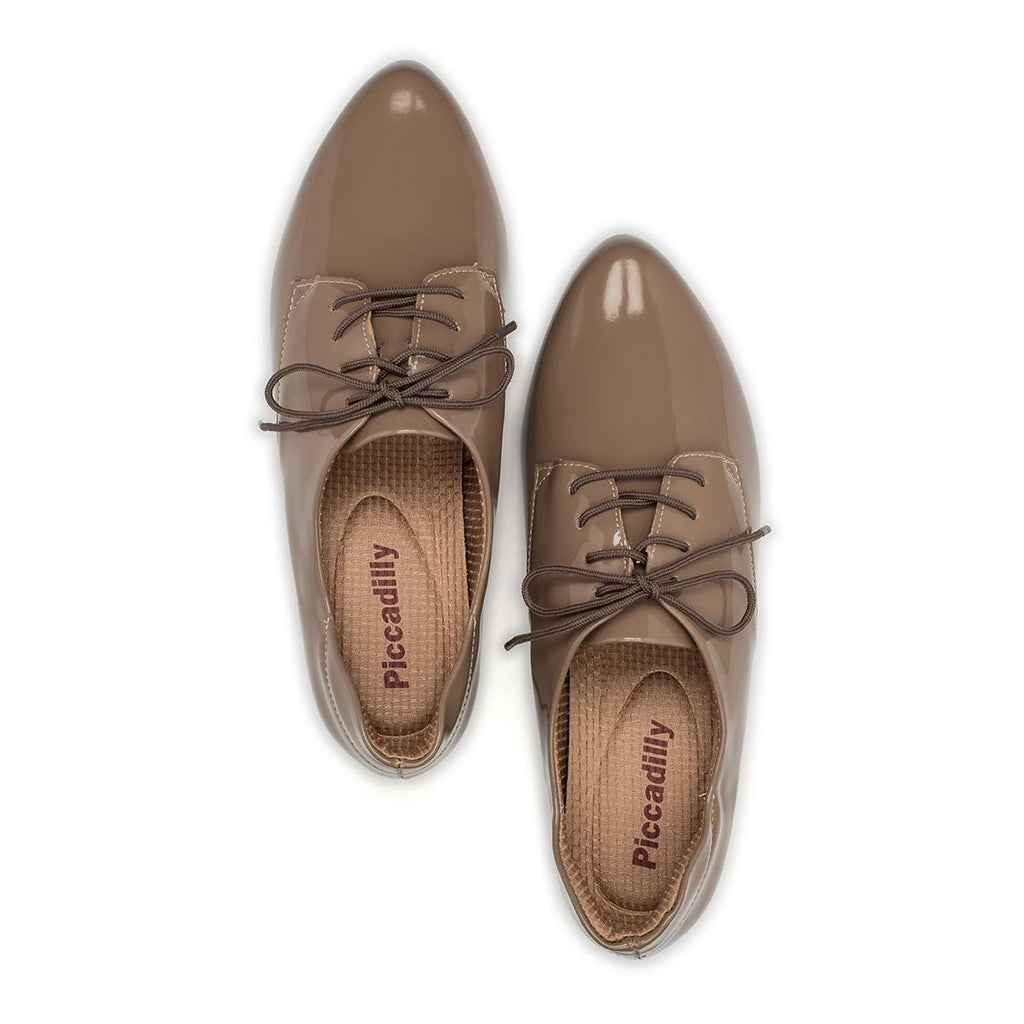 Piccadilly Ref 252012 Women Moccasin Oxford Taupe Painted