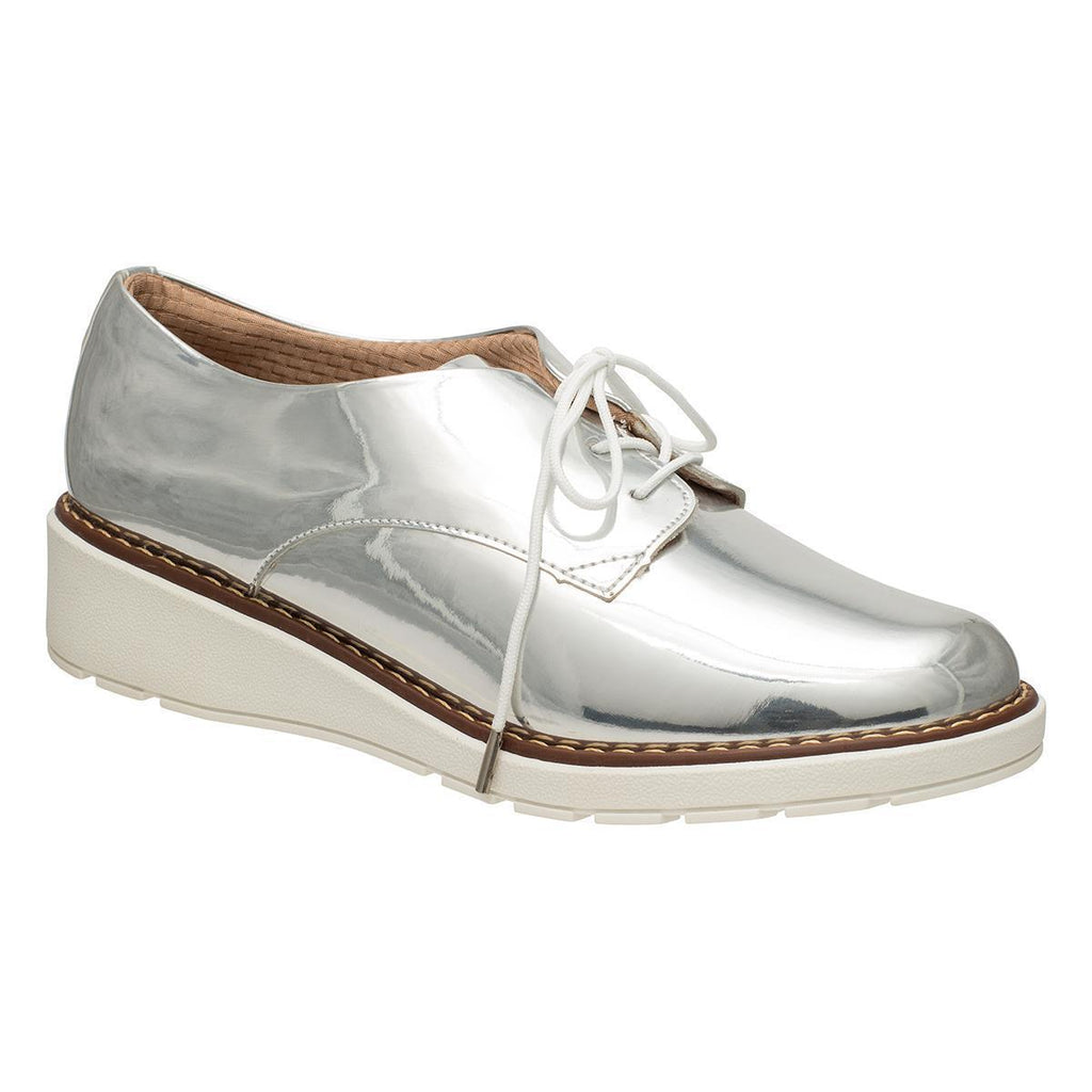 Piccadilly 731016-1030 Women Wedge Brogues Silver