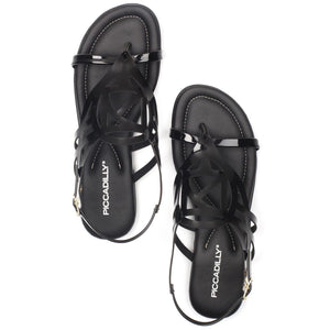 Piccadilly 533006-1004 Women Comfortable Flat Sandal Black