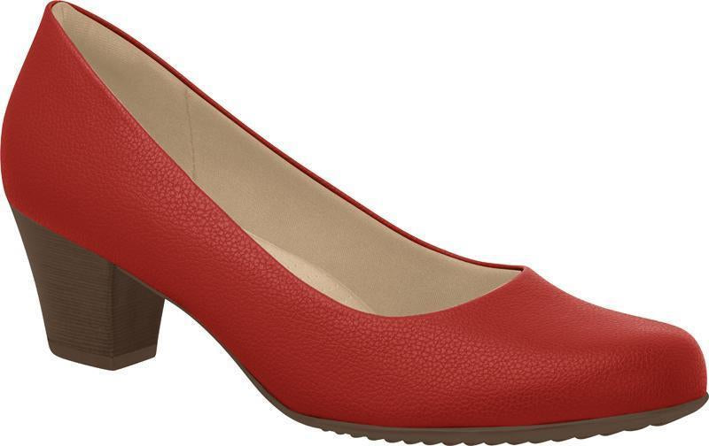 Piccadilly Ref: 110071-439A Red Flight Attendant Crew Shoes For Uniform Business With Med Heel