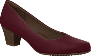 Piccadilly 110072 Women Fashion Business Mid heel Shoe in Wine