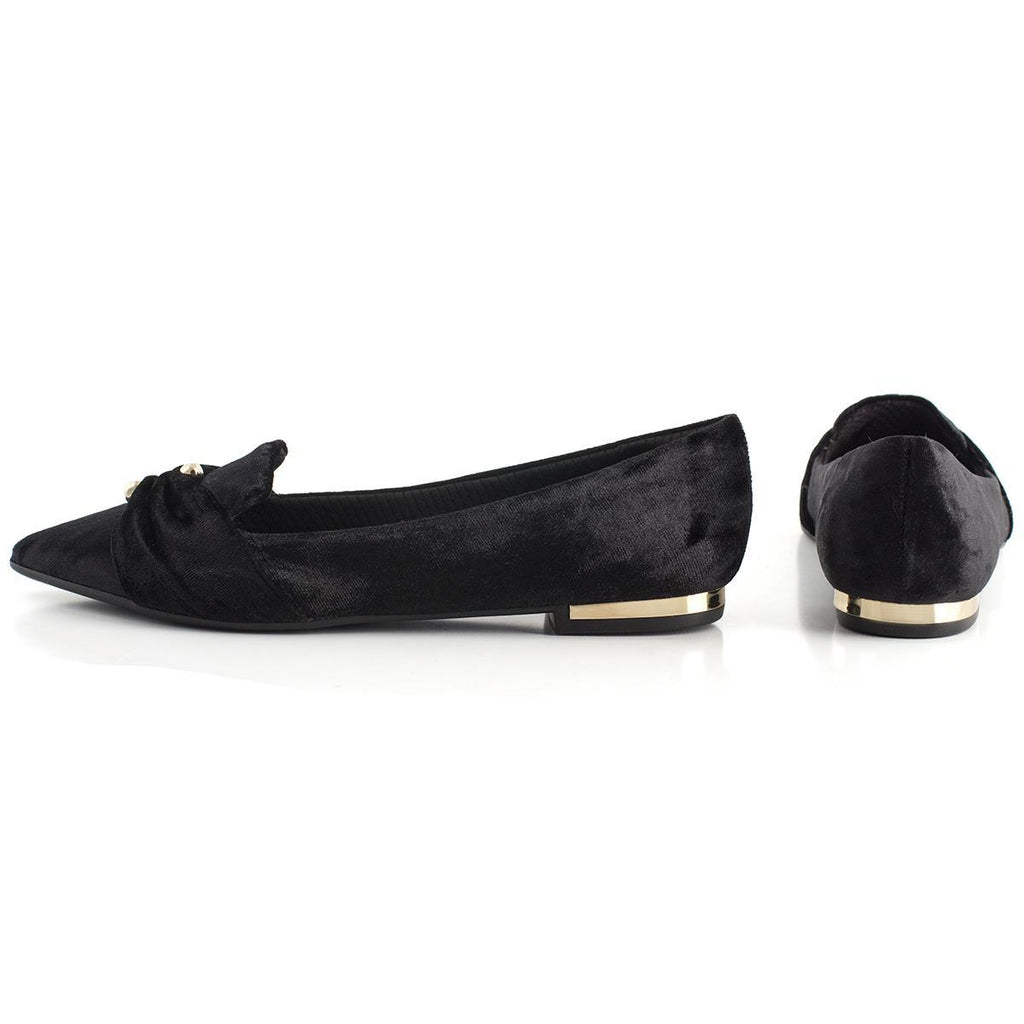 Piccadilly Ref: 274038 Velure Flat in Black Piercing Detail