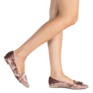 Piccadilly 274038-1093 Women Rose Flat Velour