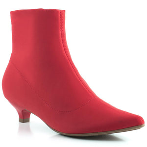 Piccadilly Ref 275003 Elastic Red Boot Kitten Heel Red