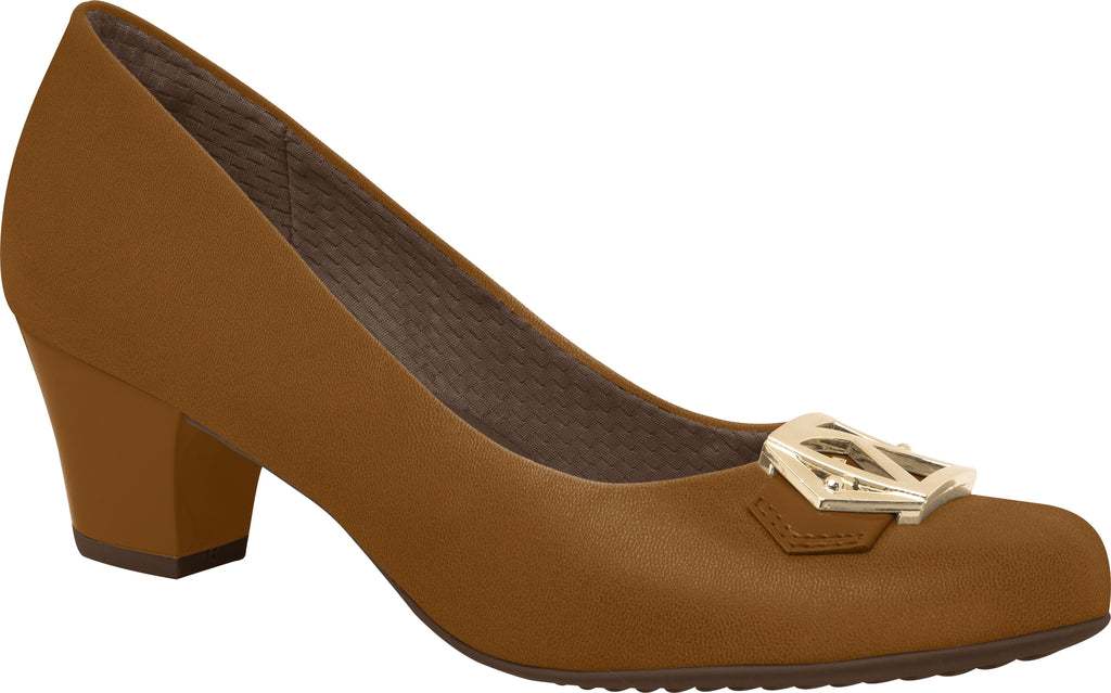 Piccadilly 111064-1069 Women Business Shoe Mid Heel Light Brown