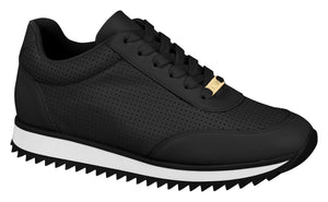 Women Black Walking fashion Sneaker Vizzano 1234.117