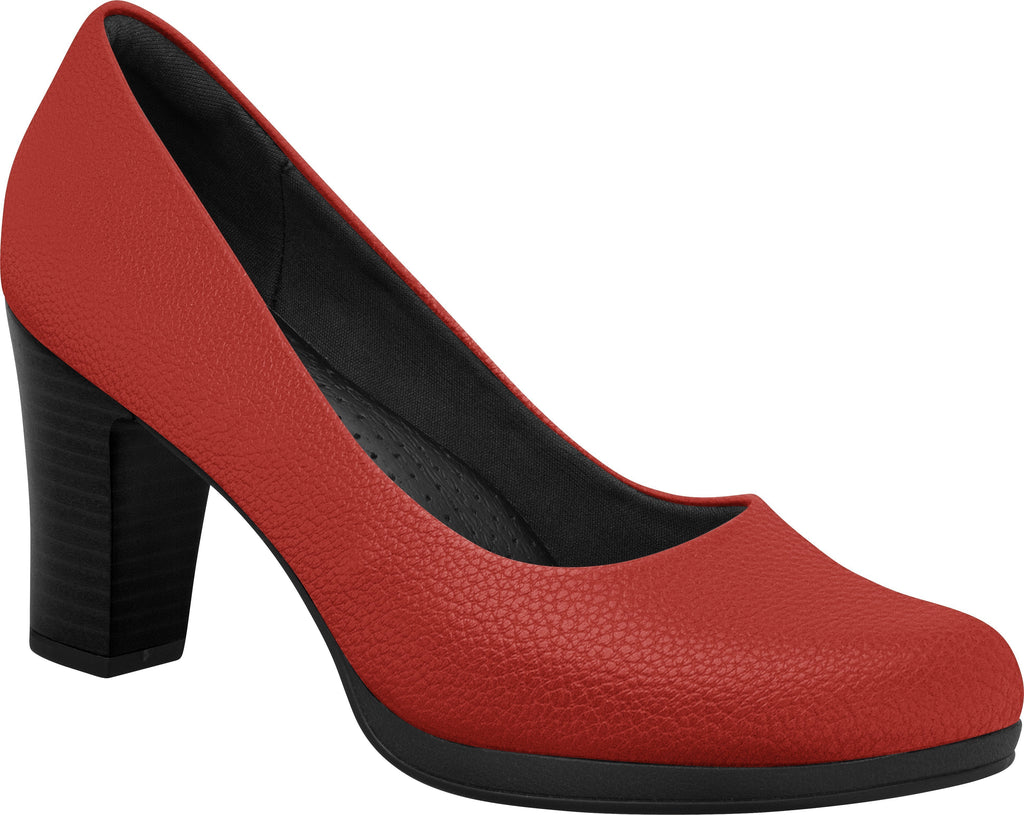 Piccadilly Shoes Ref:427A Red Flight Attendant Crew Shoes For Uniform Or Fashion Business With Med Heel Emirates