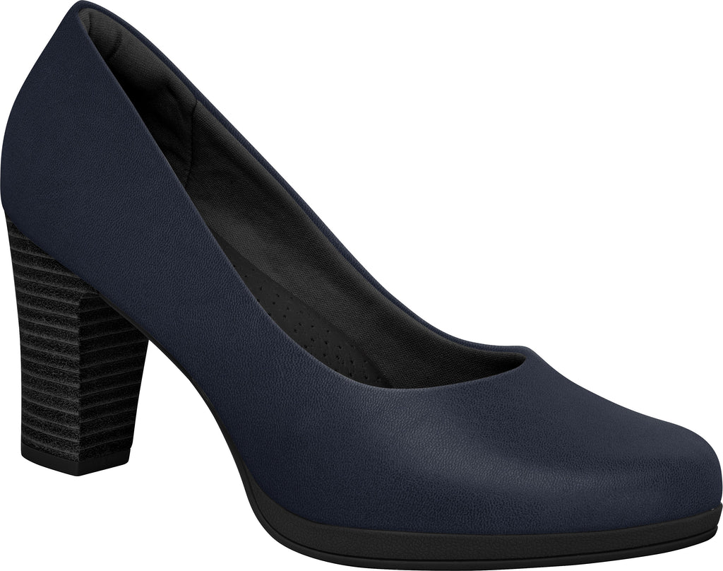 Piccadilly 130185 Women Court Shoe Flight Attendant Business in Navy