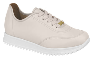 Beira Rio 1322.100 Women White Fashion Sneaker in Cream