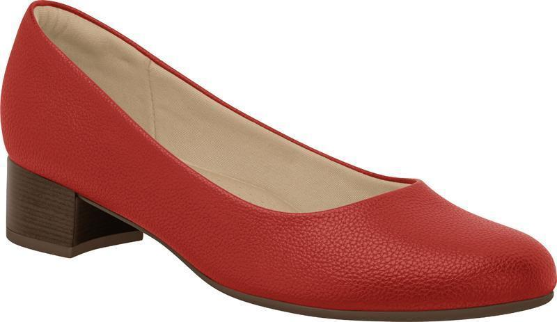 Piccadilly Ref: 200a-140072 Red Flight Attendant Crew Shoes For Uniform Business With Low Heel