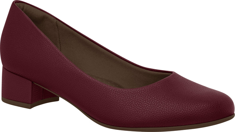 Piccadilly 140110 Women Fashion Business Low Heel Shoe in Wine Color