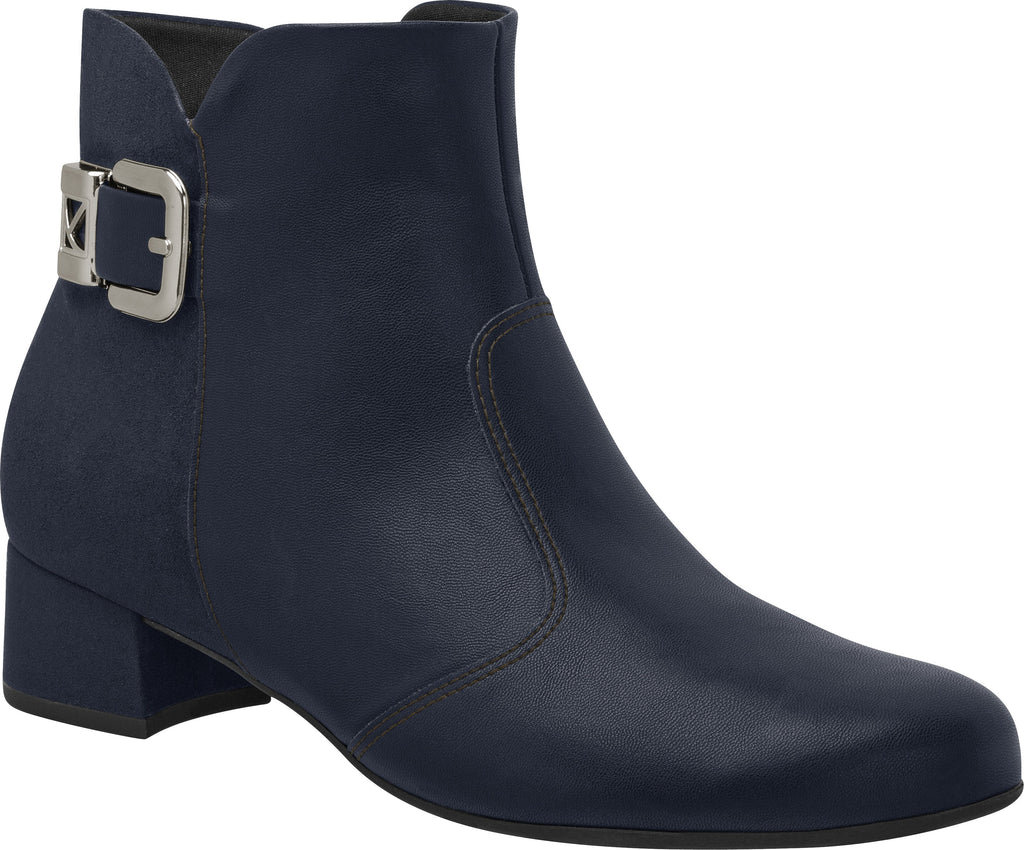Piccadilly Ref: 141081-1142 Women Short Navy Boot With Buckle