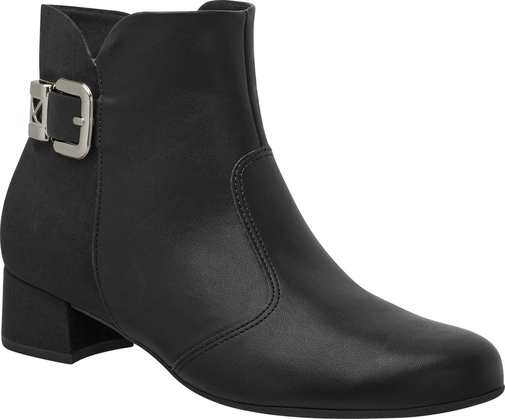 Piccadilly Ref: 141081-1141 Women Short Black Boot With Buckle & Suede Detail