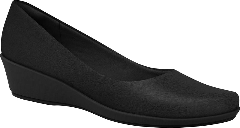 Piccadilly 143133 Women Fashion Business Low Wedge Heel in Black Color