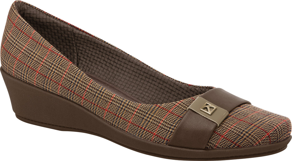 Piccadilly 144021-1075 Women Wedge Shoe Tweed