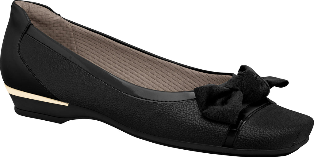 Piccadilly 147142 Women Fashion Shoe With a Bow in Black