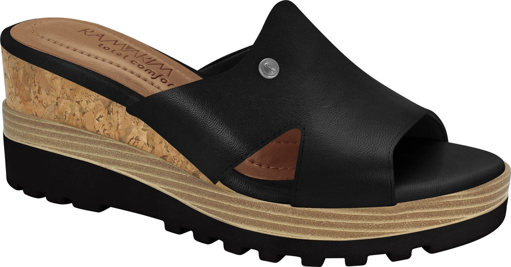 Ramarim 1814201 Women Comfortable Slipper Platform in Black
