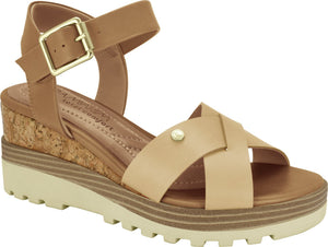 Ramarim 1814203 Women Fashion Comfortable Sandal Platform in Vanilla
