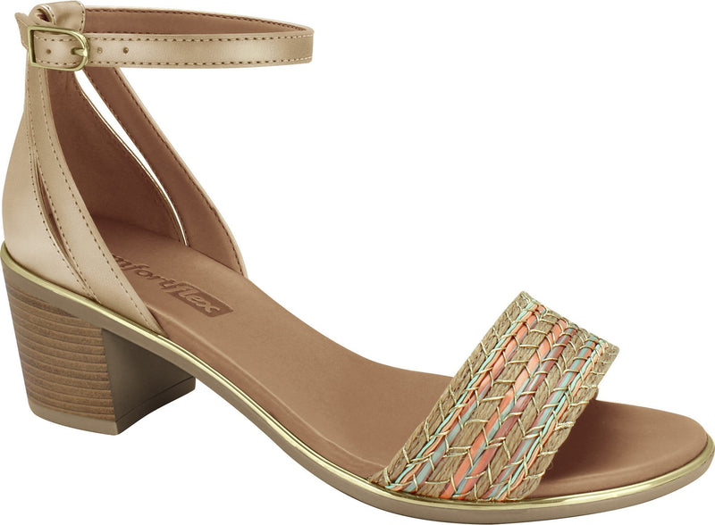 Ramarim 1871404 Women Fashion Comfortable Sandal Mid Heel in Nude