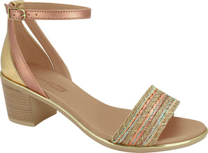 1871404 Women Fashion Comfortable Sandal Mid Heel in Nude