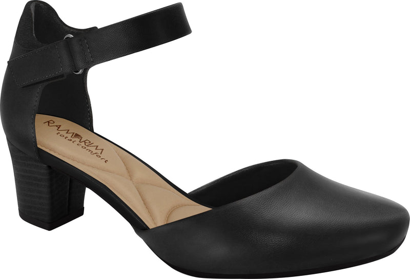 Ramarim 1884251 Women Fashion Comfortable Business Shoe Mid Heel in Black
