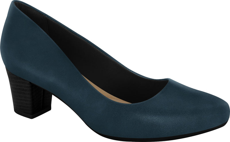 Ramarim 1884252 Women Fashion Comfortable Business Shoe Mid Heel in Navy (Black Heel)