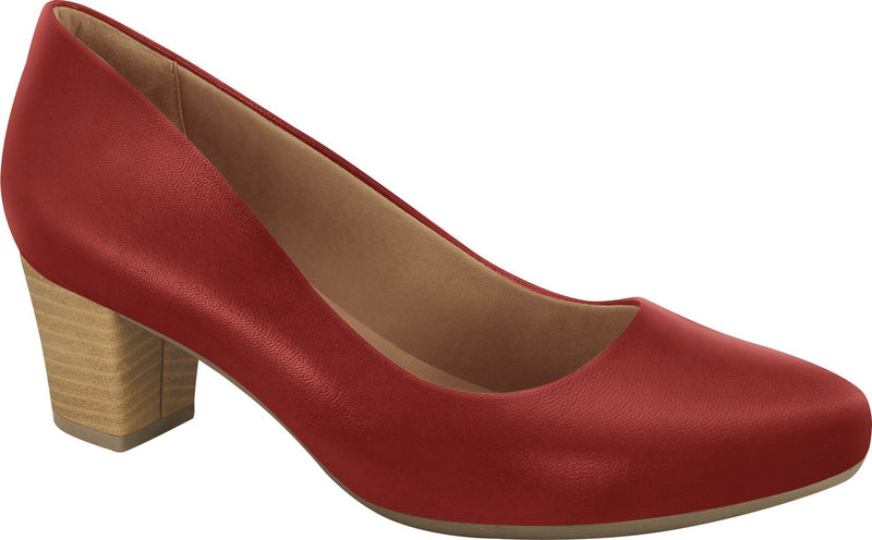 Ramarim 1884252 Women Fashion Comfortable Business Shoe Mid Heel in Red