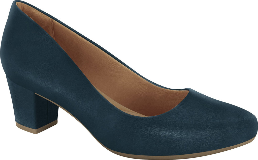 1884252 Women Fashion Comfortable Business Shoe Mid Heel in Navy (Navy Heel)