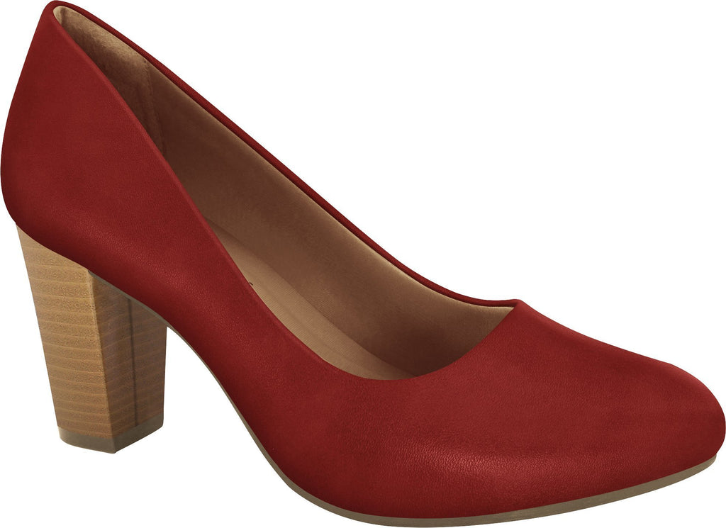 Ramarim 1894252 Women Fashion Comfortable Business Shoe Mid Heel in Red