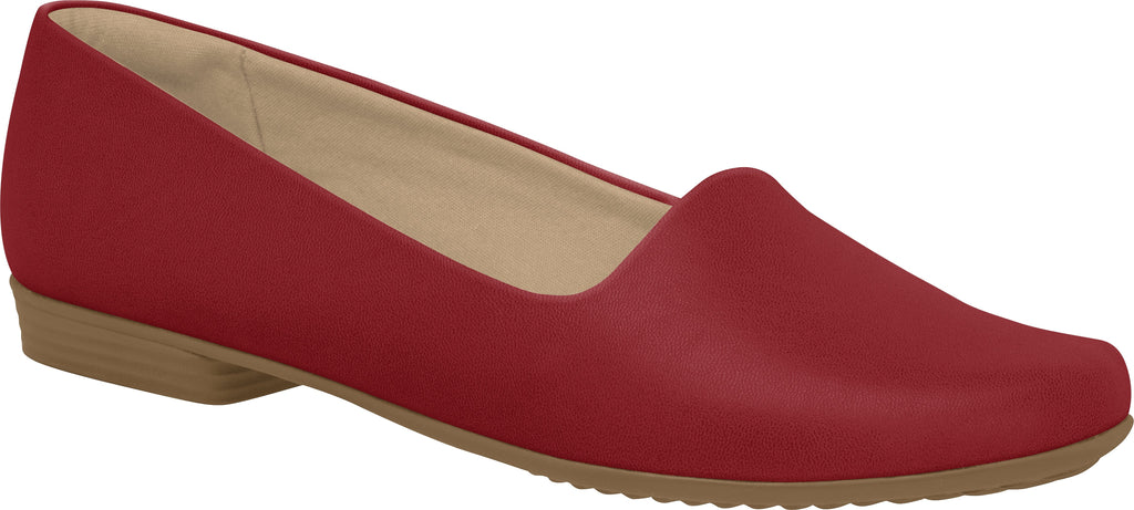 Piccadilly 250132 Women Fashion Business Travel Work Flat in Red High Performance Fabric