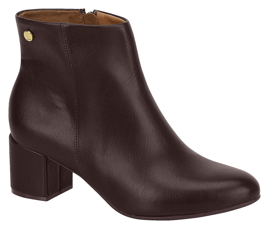 Women Fashion Comfortable Ankle Boot Mid Heel in Coffee Vizzano 3067.100