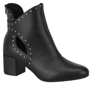 Modare 3067.105 Women Fashion Comfortable Ankle Boot Mid Heel in Black