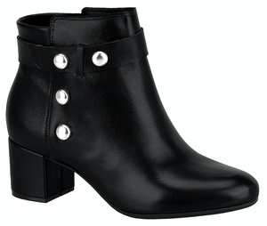 Vizzano 3067.104 Women Fashion Comfortable Business Ankle Boot Mid Heel in Glam Black