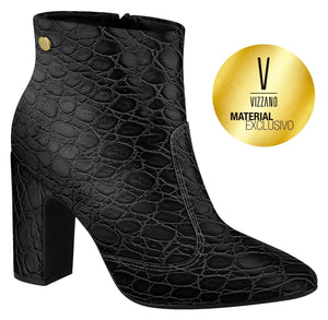 Vizzano 3068.100 Women Fashion Comfortable Ankle Boot in Croco Black