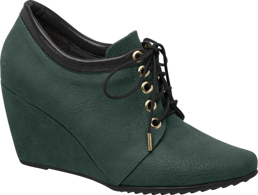Piccadilly 315050-55 Women Ankle Boot Wedge Dark Green