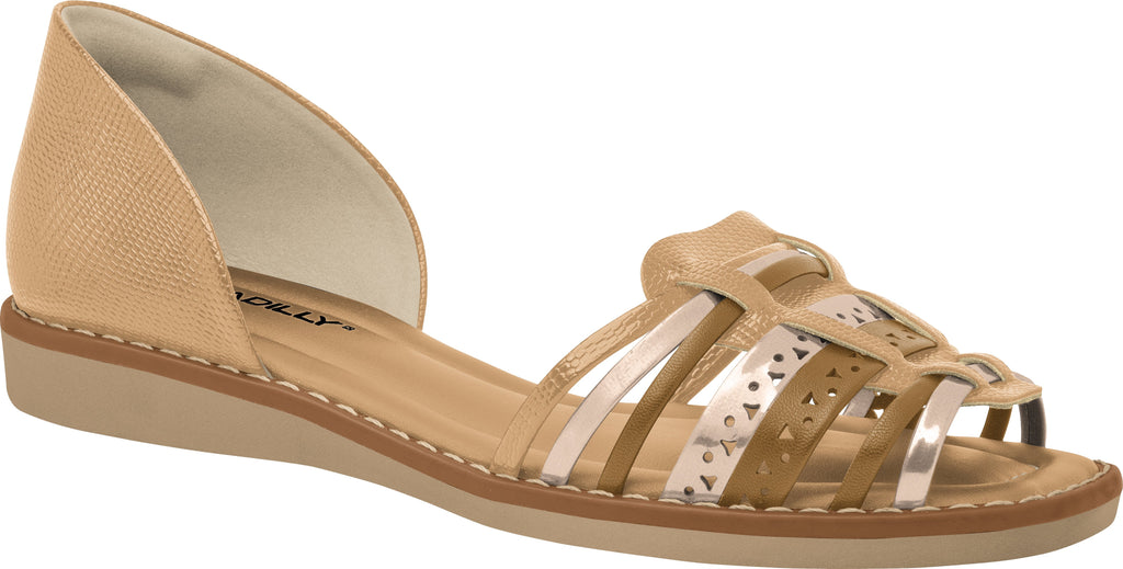 Piccadilly 406054 Women Flat Sandal in Nude