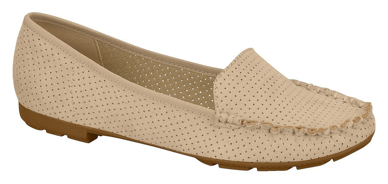 Beira Rio 4121.300-1225 Women Flat Moccasin in Beige
