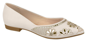 Beira Rio 4136.154-1247 Women Ballet Flat in Cream