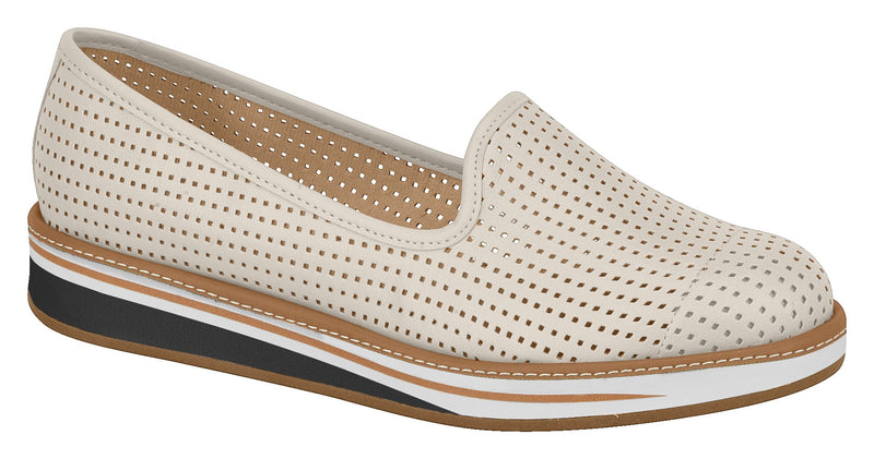 Beira Rio 4235.100 Women Fashion Loafer in Laser Cut Cream