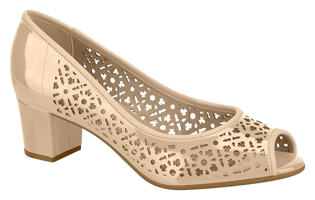 Beira Rio 4777.365-1258 Women Fashion Shoes Laser Cut in Painted Nude
