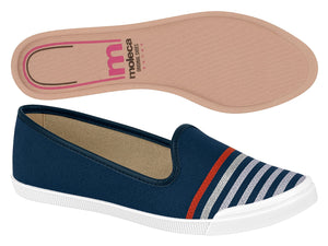 Moleca 5109.761 Women Fashion Flats in Silver Navy