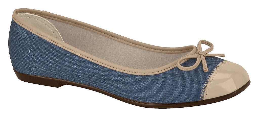 Moleca 5255.620 Women Fashion Flats in Jeans Beige