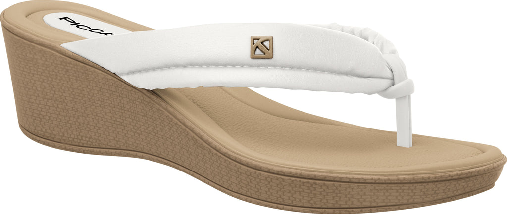 Piccadilly 540210-1007 Women Comfortable Flat Flip Flop White