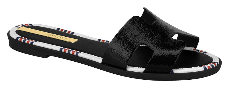 Moleca 5433.308 Women Flat Fashion Slipper in Painted Black