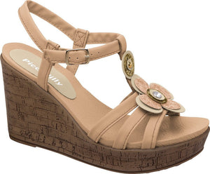 Piccadilly 559002-264 Women Sandal Wedge Nude